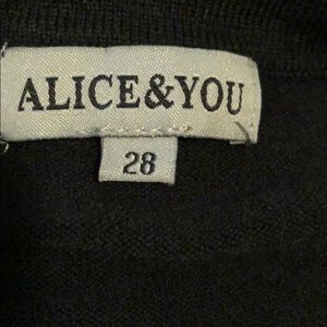 Alice & you festive black sweatshirt/sweater